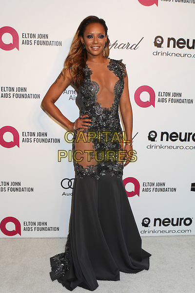 WEST HOLLYWOOD, CA - MARCH 2: Melanie Brown attending the 22nd Annual Elton John AIDS Foundation Academy Awards Viewing/After Party in West Hollywood, California on March 2nd, 2014.  <br /> CAP/MPI/mpi99<br /> &copy;mpi99/MediaPunch/Capital Pictures