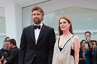 "Julianne Moore, Bart Freundlich at the ""Suburbicon"" premiere, 74th Venice Film Festival in Italy on 2 September 2017.<br /> <br /> Photo: Kristina Afanasyeva/Featureflash/SilverHub<br /> 0208 004 5359<br /> sales@silverhubmedia.com"