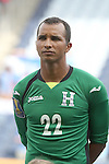 13 July 2015: Donis Escober (HON). The Haiti Men's National Team played the Honduras Men's National Team at Sporting Park in Kansas City, Kansas in a 2015 CONCACAF Gold Cup Group A match. Haiti won the game 1-0.