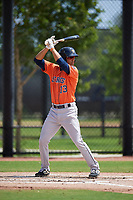 Houston Astros Andres Santana (73) bats during a Minor League Spring Training Intrasquad game on March 28, 2019 at the FITTEAM Ballpark of the Palm Beaches in West Palm Beach, Florida.  (Mike Janes/Four Seam Images)