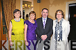 KERRY: Having a great time at the Kerry GAA supporters club annual dinner at the Ballygarry House hotel, Tralee on Saturday l-r: Anne Kelly-Quane, Emer Hogan, Martin Leane and Maureen O'Shea.