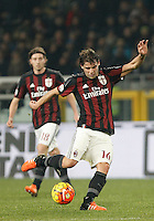 Calcio, quarti di finale di Coppa Italia: Alessandria vs Milan. Torino, stadio Olimpico, 26 gennaio 2016.<br /> AC Milan's Andrea Poli kicks the ball during the Italian Cup semifinal first leg football match between Alessandria and AC Milan at Turin's Olympic stadium, 26 January 2016.<br /> UPDATE IMAGES PRESS/Isabella Bonotto<br /> <br /> goal annullato