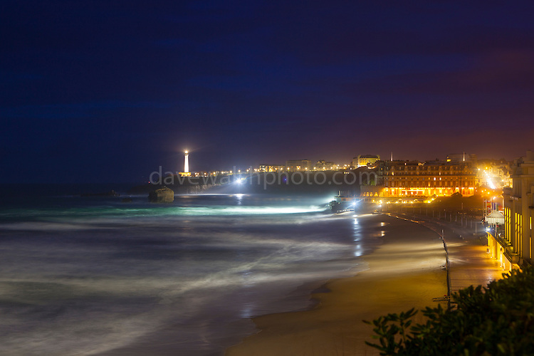 Atlantic waves lash the resort town of Biarritz, in the Basque region of France.