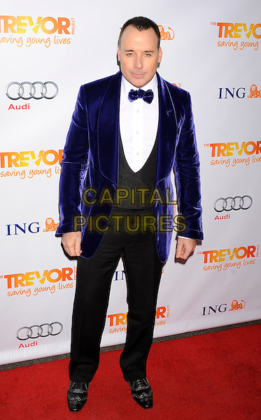 David Furnish.Trevor Live at The Hollywood Palladium in Hollywood, California, USA..December 4th, 2011.full length black trousers purple velvet jacket tuxedo white shirt.CAP/ROT/TM.©Tony Michaels/Roth Stock/Capital Pictures