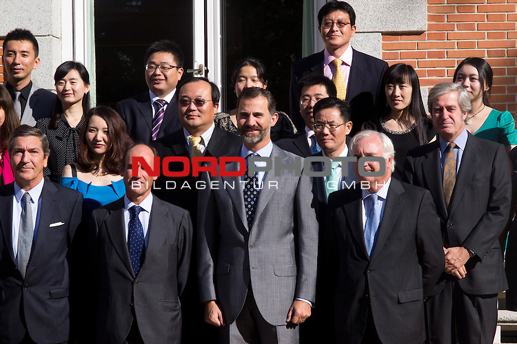 25.09.2012. Prince Felipe of Spain attends in audience a Chinese professionals participating in the VI edition of Future Leaders Program Chinese, in the Zarzuela Palace, Madrid, Spain. In the image Prince Felipe of Spain Foto © nph / Marta Gonzalez) *** Local Caption ***