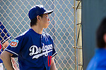 Kenta Maeda (Dodgers),<br /> FEBRUARY 26, 2016 - MLB :<br /> Los Angeles Dodgers spring training baseball camp at Camelback Ranch in Glendale, Arizona, United States. (Photo by Thomas Anderson/AFLO) (JAPANESE NEWSPAPER OUT)