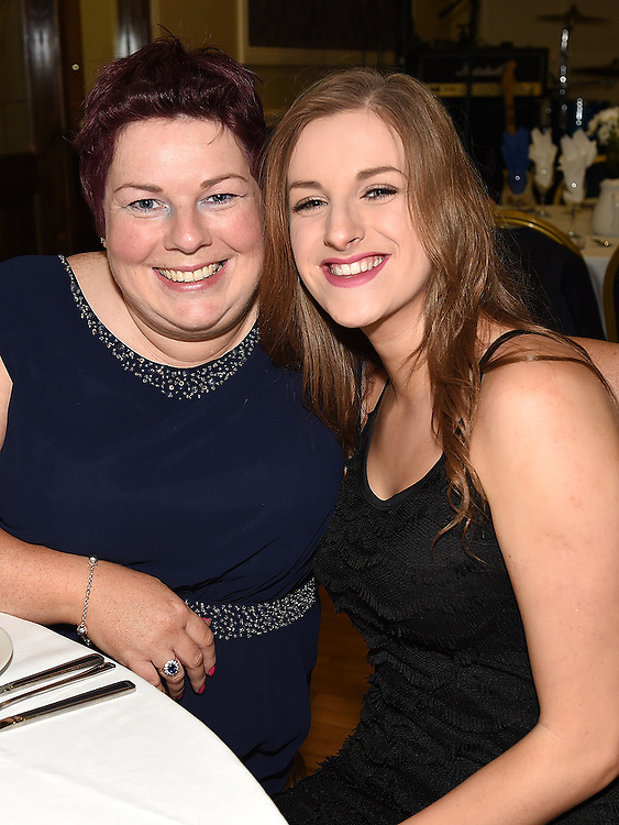 Bernadette Mulroy and Rebecca Howell pictured at Naomh Mairtin Annual Reunion Dinner Dance in the Grove House Dunleer. Photo:Colin Bell/pressphotos.ie