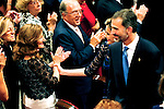 King Felipe VI of Spain, Queen Letizia of Spain and Paloma Rocasolano attended the 'Prince of Asturias Awards 2014' ceremony at the Campoamor Theater on October 24, 2014 in Oviedo, Spain.