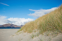 Coastal sand dunes on Luskentyre beach, Isle of Harris, Outer Hebrides, Scotland