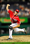 24 September 2010: Washington Nationals pitcher Tyler Clippard on the mound against the Atlanta Braves at Nationals Park in Washington, DC. The Nationals defeated the Braves 8-3 to take the first game of their 3-game series. Mandatory Credit: Ed Wolfstein Photo