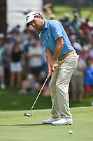 Kevin Kisner (USA) watches his putt on 5 during round 2 of the 2019 Charles Schwab Challenge, Colonial Country Club, Ft. Worth, Texas,  USA. 5/24/2019.<br /> Picture: Golffile   Ken Murray<br /> <br /> All photo usage must carry mandatory copyright credit (© Golffile   Ken Murray)