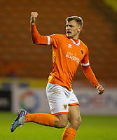 Blackpool's Kiernan Dewsbury-Hall celebrates scoring his side's first goal <br /> <br /> Photographer Alex Dodd/CameraSport<br /> <br /> The EFL Sky Bet League One - Blackpool v Tranmere Rovers - Tuesday 10th March 2020 - Bloomfield Road - Blackpool<br /> <br /> World Copyright © 2020 CameraSport. All rights reserved. 43 Linden Ave. Countesthorpe. Leicester. England. LE8 5PG - Tel: +44 (0) 116 277 4147 - admin@camerasport.com - www.camerasport.com