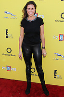 SANTA MONICA, CA, USA - NOVEMBER 16: Rosa Blasi arrives at the P.S. ARTS Express Yourself 2014 held at The Barker Hanger on November 16, 2014 in Santa Monica, California, United States. (Photo by Celebrity Monitor)