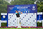 Xi Chen Wang of China tees off on the 1st hole during the Round 1 of the Faldo Series Asia Grand Final at Mission Hills on March 2, 2011 in Shenzhen, China. Photo by Raf Sanchez / Faldo Series