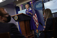 Ambassador Deborah L. Birx, M.D., White House Coronavirus Response Coordinator, speaks during a news conference in the Brady Press Briefing Room of the White House in Washington, D.C., U.S., on Friday, May 22, 2020. Trump did not wear a face mask during most of his tour of Ford Motor Co.'s ventilator facility Thursday, defying the automaker's policies and seeking to portray an image of normalcy even as American coronavirus deaths approach 100,000. <br /> Credit: Andrew Harrer / Pool via CNP / MediaPunch