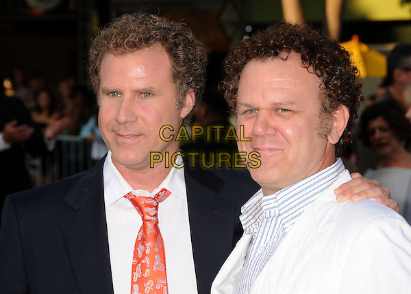 "WILL FERRELL & JOHN C. REILLY .""Step Brothers"" Los Angeles Premiere at Mann's Village Theatre, Westwood, California, USA..July 15th, 2008.headshot portrait black white .CAP/ADM/BP.©Byron Purvis/AdMedia/Capital Pictures."