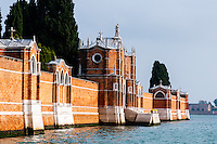 Italy, Venice. San Michele is an island used as cemetery.