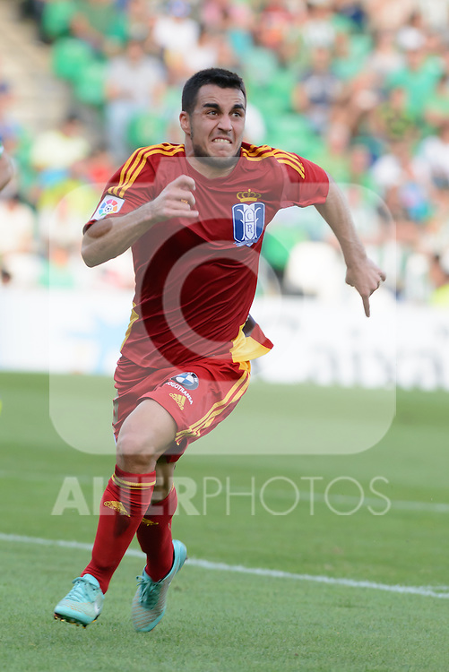 match between Real Betis and Huelvas Joselu during the Recreativo de Huelva day 10 of the spanish Adelante League 2014-2015 014-2015 played at the Benito Villamarin stadium of Seville. (PHOTO: CARLOS BOUZA / BOUZA PRESS / ALTER PHOTOS)