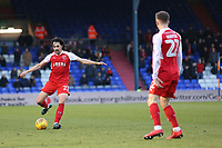 Fleetwood Town's Markus Schwabl during the Sky Bet League 1 match between Oldham Athletic and Fleetwood Town at Boundary Park, Oldham, England on 26 December 2017. Photo by Juel Miah / PRiME Media Images.