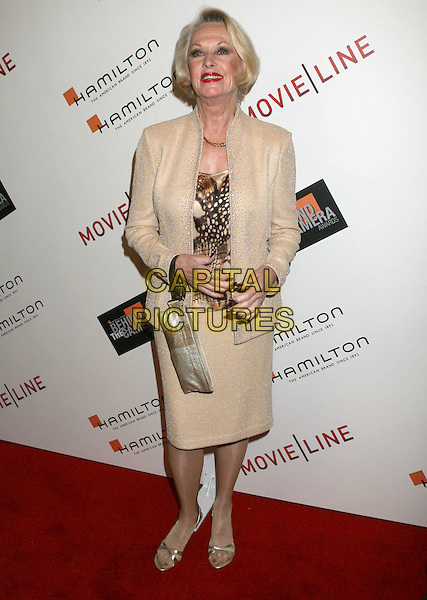 TIPPI HEDREN.2009 Hamilton Behind The Camera Awards Presented By Movieline.com at The Highlands, Hollywood, California, USA..November 8th, 2009.full length skirt top silver bag purse beige gold jacket.CAP/ADM/MJ.©Michael Jade/AdMedia/Capital Pictures.