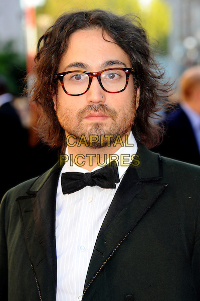 Sean Lennon.Arrivals to the UK Premiere of 'George Harrison: Living In The Material World' at BFI Southbank, London, England..October 2nd, 2011.headshot portrait black tuxedo jacket white shirt glasses beard facial hair bow tie.CAP/CJ.©Chris Joseph/Capital Pictures.