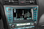 Stereo audio system close up detail view of a 2008 Toyota Camry XLE