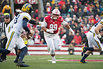Wisconsin Badgers defensive lineman Olive Sagapolu (99) during an NCAA College Big Ten Conference football game against the Michigan Wolverines Saturday, November 18, 2017, in Madison, Wis. The Badgers won 24-10. (Photo by David Stluka)