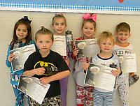 PHOTO SUBMITTED December Hawk Hero Award Winners from Pineville Primary School. Congratulations students.