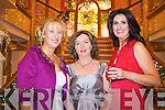 Pictured at the designers showcase at the Plaza Hotel on Friday from left: Claire Murphy, Elma Mulrooney and Ann Kahraman.