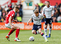 Bolton Wanderers' Ronan Darcy competing with Nottingham Forest's Ryan Yates <br /> <br /> Photographer Andrew Kearns/CameraSport<br /> <br /> The EFL Sky Bet Championship - Nottingham Forest v Bolton Wanderers - Sunday 5th May 2019 - The City Ground - Nottingham<br /> <br /> World Copyright © 2019 CameraSport. All rights reserved. 43 Linden Ave. Countesthorpe. Leicester. England. LE8 5PG - Tel: +44 (0) 116 277 4147 - admin@camerasport.com - www.camerasport.com