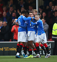 24th November 2019; New Douglas Park, Hamilton, South Lanarkshire, Scotland; Scottish Premiership Football, Hamilton Academical versus Rangers; Ryan Jack of Rangers celebrates after he opens the scoring in the 7th minute making it 1-0 to Rangers - Editorial Use