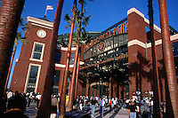 SAN FRANCISCO, CA - Exterior view of Pacific Bell Park, home of the San Francisco Giants, in San Francisco, California in 2000. Photo by Brad Mangin