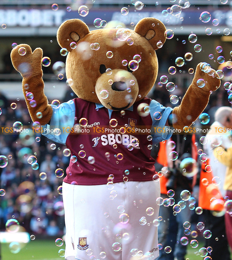 West Ham mascot Bubbles the Bear - West Ham United vs Crystal Palace, npower Championship at Upton Park, West Ham - 25/02/12 - MANDATORY CREDIT: Rob Newell/TGSPHOTO - Self billing applies where appropriate - 0845 094 6026 - contact@tgsphoto.co.uk - NO UNPAID USE..