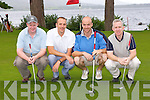 Shane Lowrey Caherciveen, John Guest, Sean Twomey and Declan Kelly Killarney playing a round at the Kerry GAA golf classic in the Killarney Golf and Fishing club on Friday..