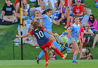 Boyds, MD - Saturday July 09, 2016: Estefania Banini, Jen Hoy during a regular season National Women's Soccer League (NWSL) match between the Washington Spirit and the Chicago Red Stars at Maureen Hendricks Field, Maryland SoccerPlex.