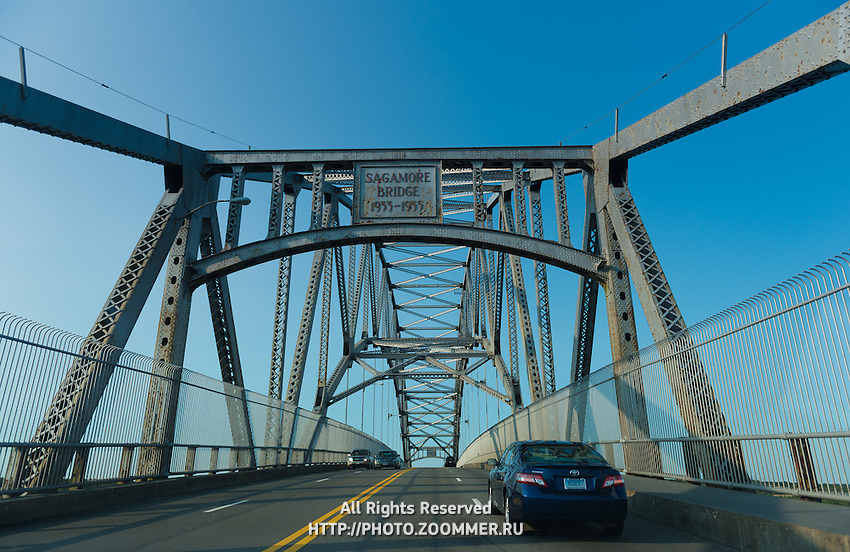 Cars on Sagamore Bridge, Cape Cod, Massachusetts