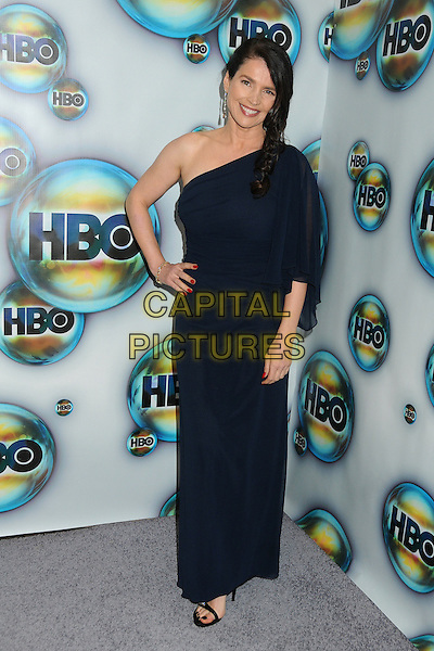 Julia Ormond.HBO 2012 Golden Globe Awards Post Party held at Circa 55 Restaurant, Beverly Hills, California, USA..January 15th, 2012.globes full length dress hand on hip blue one shoulder braid plait hair.CAP/ADM/BP.©Byron Purvis/AdMedia/Capital Pictures.