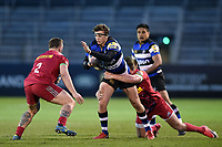 Darren Atkins of Bath United takes on the Harlequins A defence. Aviva A-League match, between Bath United and Harlequins A on March 26, 2018 at the Recreation Ground in Bath, England. Photo by: Patrick Khachfe / Onside Images