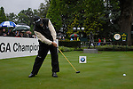 Angel Cabrera tees off on the opening hole during the final round of the BMW PGA Championship at Wentworth Club, Surrey, England 27th May 2007 (Photo by Eoin Clarke/NEWSFILE)
