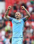 Aleksander Kolarov of Manchester City celebrates the win  during the Premier League match at Old Trafford Stadium, Manchester. Picture date: September 10th, 2016. Pic Simon Bellis/Sportimage
