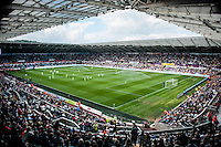 view of the Liberty Stadium during the Barclays Premier League match between Swansea City and Manchester City played at the Liberty Stadium, Swansea on the 15th of May  2016