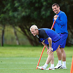 Steven Naismith and Lee McCulloch have a laugh at training