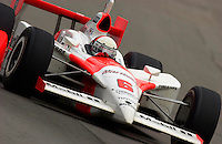 87th Indianapolis 500, Indianapolis Motor Speedway, Speedway, Indiana, USA  25 May,2003.Gil de Ferran speeds into turn one..World Copyright©F.Peirce Williams 2003 .ref: Digital Image Only..F. Peirce Williams .photography.P.O.Box 455 Eaton, OH 45320.p: 317.358.7326  e: fpwp@mac.com..