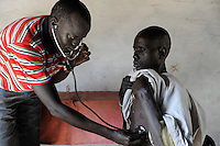 "Afrika Suedsudan Rumbek , Diakonie Gesundheitsstation Agangrial in Cuibet County | .Africa South Sudan Rumbek , health center .| [ copyright (c) Joerg Boethling / agenda , Veroeffentlichung nur gegen Honorar und Belegexemplar an / publication only with royalties and copy to:  agenda PG   Rothestr. 66   Germany D-22765 Hamburg   ph. ++49 40 391 907 14   e-mail: boethling@agenda-fototext.de   www.agenda-fototext.de   Bank: Hamburger Sparkasse  BLZ 200 505 50  Kto. 1281 120 178   IBAN: DE96 2005 0550 1281 1201 78   BIC: ""HASPDEHH"" ,  WEITERE MOTIVE ZU DIESEM THEMA SIND VORHANDEN!! MORE PICTURES ON THIS SUBJECT AVAILABLE!! ] [#0,26,121#]"