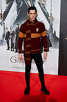Eduardo Casanova attends to Fantastic Beasts: The Crimes of Grindelwald film premiere during the Madrid Premiere Week at Kinepolis in Pozuelo de Alarcon, Spain. November 15, 2018. (ALTERPHOTOS/A. Perez Meca) /NortePhoto