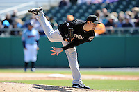 Jackson Generals starting pitcher James Paxton #19 delivers a pitch during a game between the Jackson Generals and the Tennessee Smokies at Smokies Park, Kodak, Tennessee April 11, 2012. The Generals won 2-1  (Tony Farlow/Four Seam Images)..