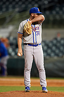 St. Lucie Mets relief pitcher Matt Pobereyko (38) during a game against the Florida Fire Frogs on April 19, 2018 at Osceola County Stadium in Kissimmee, Florida.  St. Lucie defeated Florida 3-2.  (Mike Janes/Four Seam Images)