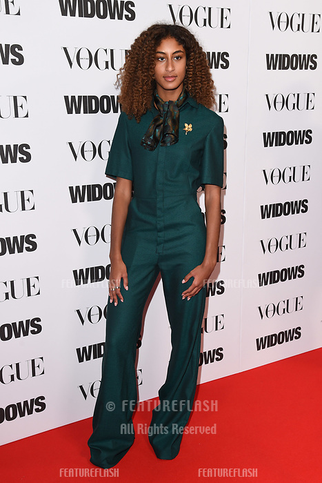 LONDON, UK. October 31, 2018: Emilia Boateng at the &quot;Widows&quot; special screening in association with Vogue at the Tate Modern, London.<br /> Picture: Steve Vas/Featureflash