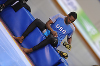 SCHAATSEN: SALT LAKE CITY: Utah Olympic Oval, 16-11-2013, Essent ISU World Cup, Shani Davis (USA), ©foto Martin de Jong