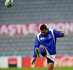 ENG - Newcastle upon Tyne, England, October 08: During the Captains Run of Samoa on October 8, 2015 at St. James Park in Newcastle upon Tyne, England. (Photo by Dirk Markgraf / www.265-images.com) *** Local caption *** Tim Nanai-Williams